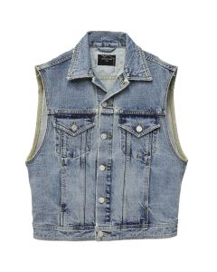 FEAR OF GOD DENIM VEST WITH 'FEAR OF GOD' / VINTAGE INDIGO