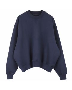 FEAR OF GOD FIFTH COLLECTION HEAVY TERRY CREWNECK SWEATSHIRT / NAVY