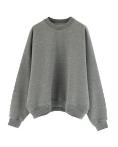 FEAR OF GOD FIFTH COLLECTION HEAVY TERRY CREWNECK / HEATHER GREY