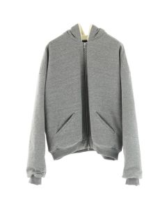 FEAR OF GOD FIFTH COLLECTION HEAVY TERRY ALPACA HOODIE / HEATHER GREY