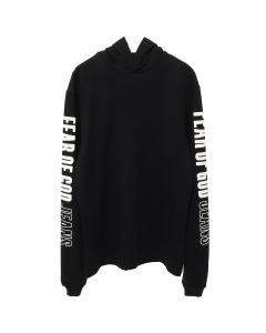 FEAR OF GOD HEAVY JERSEY LS HOODIE / BLACK