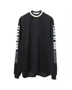 FEAR OF GOD FIFTH COLLECTION MESH MOTOCROSS JERSEY / BLACK