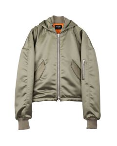 FEAR OF GOD FIFTH COLLECTION SATIN HOODED BOMBER / SAGE