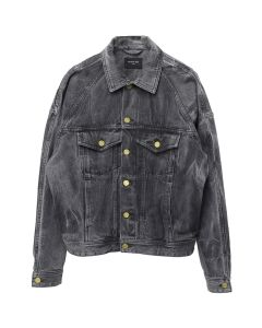 FEAR OF GOD FIFTH COLLECTION SELVEDGE DENIM HOLY WATER TRUCKER JACKET / BLACK HOLY WATER