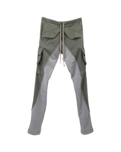 Greg Lauren 50/50 ARMY/TERRY LONG PANT / ARMY