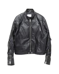 GmbH BOMBER w/STRAPS ON SLEEVES / 01 : BLACK