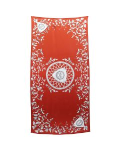 GmbH SCARF w/DIGITAL PRINT / 95 PRINT RED
