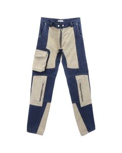 GmbH HIGH WAISTED TWO-TONE PATCHWORK / NAVY-BEIGE