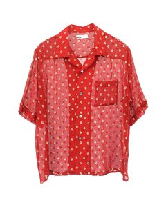 GmbH LUKA/BOWLING SHIRT WITH EMBROID / RED-GOLD