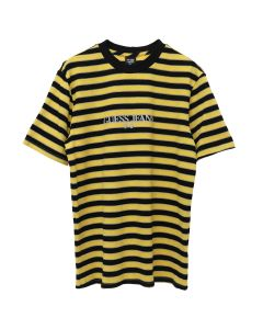PLACES+FACES x GUESS JEANS U.S.A. PF S/S STRIPE T-SHIRT / F2D7 : GOLD RUSH YELLOW MULTI