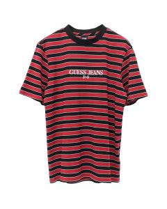 PLACES+FACES x GUESS JEANS U.S.A. PF S/S STRIPE T-SHIRT / F6I9 : ROSE RED MULTI