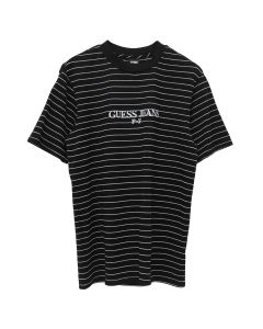 PLACES+FACES x GUESS JEANS U.S.A. PF S/S STRIPE T-SHIRT / JTMU : BLACK MULTI