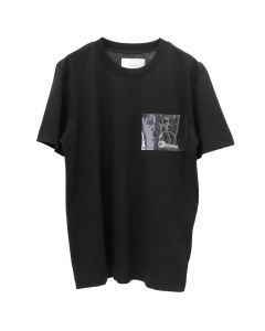 HELIOT EMIL T-SHIRT WITH PVC POCKET / BLACK