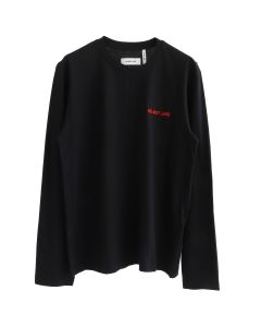 HELMUT LANG CUT NECK LS T-SHIRT / BLACK-RED