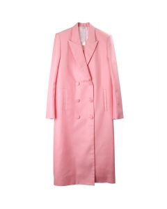 HELMUT LANG DOUBLE BREASTED COAT / PERFECT PINK