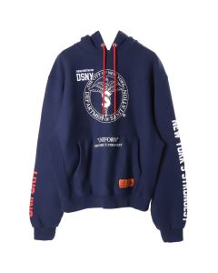 HERON PRESTON DSNY SWEATSHIRT HOODED / DARK BLUE WHT