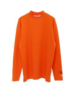 HERON PRESTON CTNMB TURTLE-NECK LS T-SHIRT / DARK ORANGE
