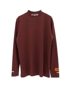 HERON PRESTON CTNMB TURTLE-NECK LS T-SHIRT / PURPLE WHT