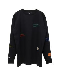 HERON PRESTON x Carhartt WIP HP x Carhartt LS T-SHIRT / 1088 : BLACK MULTICOLOR
