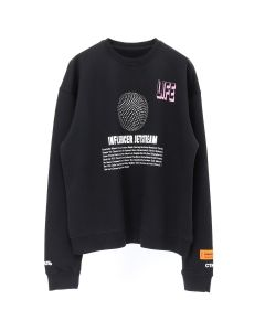 HERON PRESTON JETSTREAM CREW SWEATSHIRT / BLACK CRYSTAL