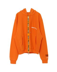 HERON PRESTON HANDLE ZIP HOODED SWEATSHIRT / ORANGE ORANGE