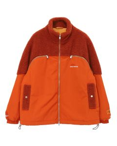 HERON PRESTON CTNMB POLARFLEECE DOWN JACKET / DARK ORANGE