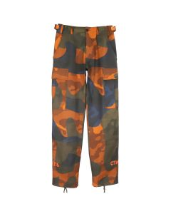 HERON PRESTON CTNMB ORANGE CAMO CARGO PANTS / MULTI ORANGE