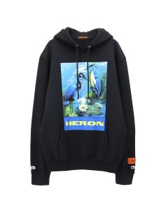 HERON PRESTON HOODIE PERMANENT / 0488 : OFF BLACK MULTICOLOR