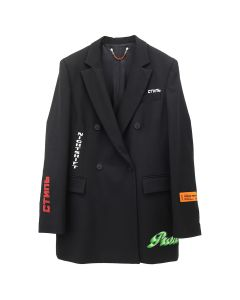 HERON PRESTON DOUBLE BREAST BLAZER EMB. / 1088 : BLK MULTICOLOR