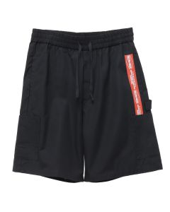 HERON PRESTON ELASTIC CARGO SHORTS RED TAPE / 1020 : BLACK RED