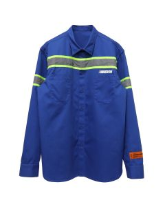 HERON PRESTON REFLECTOR SHIRT CTNMB LS / 3091 : BLUE SILVER