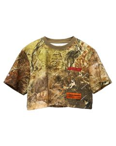 HERON PRESTON CAMO CROPPED TEE S/S / 8820 : MULTICOLOR RED