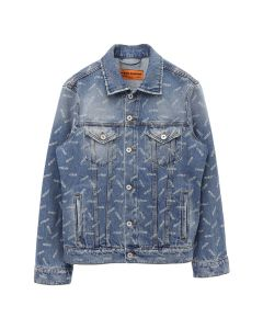 HERON PRESTON LASER DENIM JKT  / 3101 : L BLUE WHITE