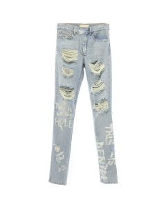 IH NOM UH NIT JEANS WITH PRINT / AS SAMPLE