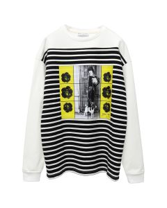 JW Anderson G+G TRANSFER PRINT LONG SLEEVE T-SHIRT / 001 : OFF WHITE