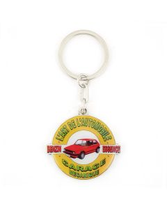 KAR / L'ART DE L'AUTOMOBILE GOLF GARAGE KEYCHAIN / SILVER