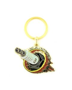 KAR / L'ART DE L'AUTOMOBILE SHARK PLUG KEYCHAIN / GOLD
