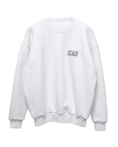 KAR / L'ART DE L'AUTOMOBILE GOLF 04A WHITE CREWNECK REVERSIBLE / WHITE