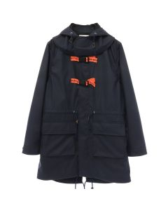 A.FOUR LABS meets POSH ISOLATION for KAPPA HOODED COAT / NAVY