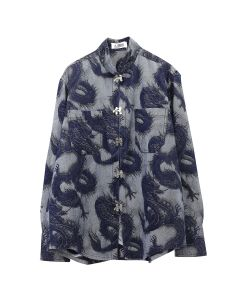 LĒO MOET/DENIM SHIRT w/SWING HOOKS / DRAGON LIGHT BLUE