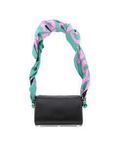 LASTFRAME LEATHER BABY DUFFLE+73BOLD / GREEN-PINK