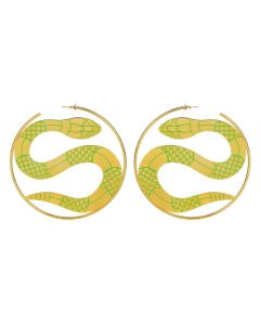 LILITH by Sita Abellan E SITA BIG HOOP / GREEN-GOLD