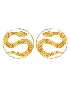 LILITH by Sita Abellan E SITA BIG HOOP / ORANGE-GOLD