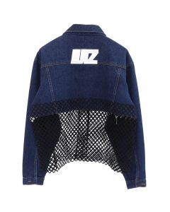 Lutz Huelle BALCONYJACKET / BLACK NET + BLUE DENIM