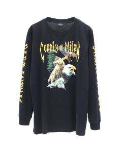 MARCELO BURLON WOLF EAGLE T-SHIRT L/S / BLK MULTICOLOR
