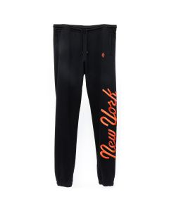 MLB x MARCELO BURLON NY METS SWEATPANTS / BLACK ORANGE