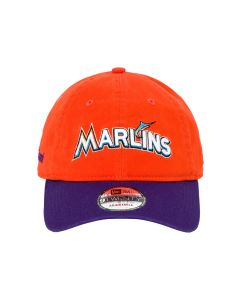 MLB x MARCELO BURLON NE MARLINS CAP / ORANGE MULTICOLOR
