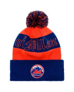 MLB x MARCELO BURLON NE NY METS POM POM BEANIE / ORANGE MULTICOLOR