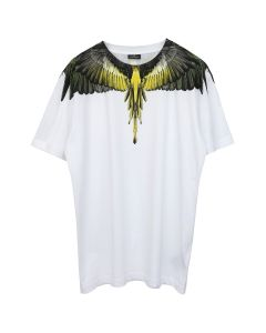 MARCELO BURLON YELLOW WINGS T-SHIRT / 0188 : WHITE MULTICOLOR