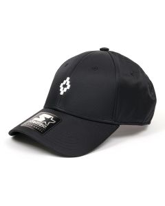 MARCELO BURLON COUNTY OF MILAN LOGO CAP / 1088 : BLACK MULTICOLOR